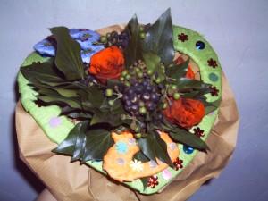 gebasteltes Blumenbouquet zum Muttertag, Foto: Margarete Rosen