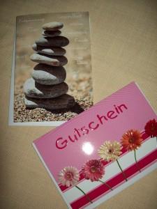 Der Geschenkgutschein für ein Wohlfühl- und Entspannungsgeschenk Foto: Margarete Rosen