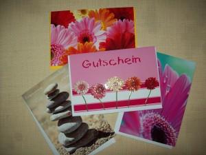 Geschenkgutscheine für Therapeutic Touch Kurse und Anwendungen Foto: Margarete Rosen