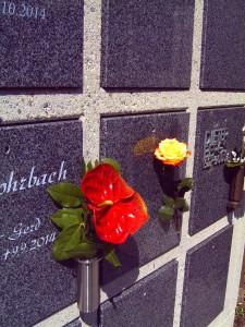 Urnen-Mauer Foto: Margarete Rosen