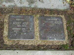 Stolpersteine auf der Maastrichterlaan in Vaals