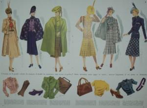 Mode um 1950, Zeitschrift aus dem Museum van de Vrouw in Echt, NL